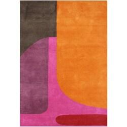 Alliyah Handmade Flame Orange New Zealand Blend Wool Rug (8' x 10')