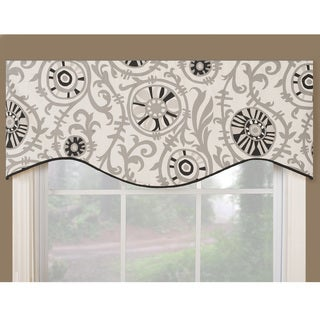 Soho Black/Grey/White Cotton Modern Window Valance