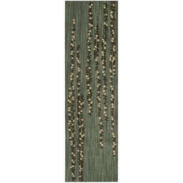 Nourison Liz Claiborne Radiant Impression Delicate Floral Green Rug (2'3 x 8')
