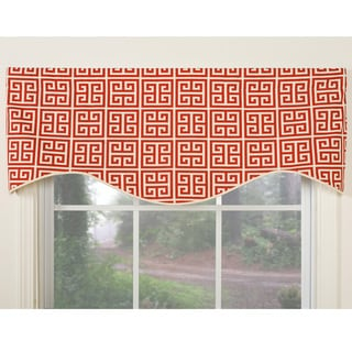 Greek Key Design Cotton Valance