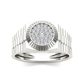 De Couer 10k Gold Men's 1/2ct TDW Diamond Ring