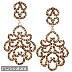 Kenneth Jay Lane Goldtone Crystal Dangle Earrings