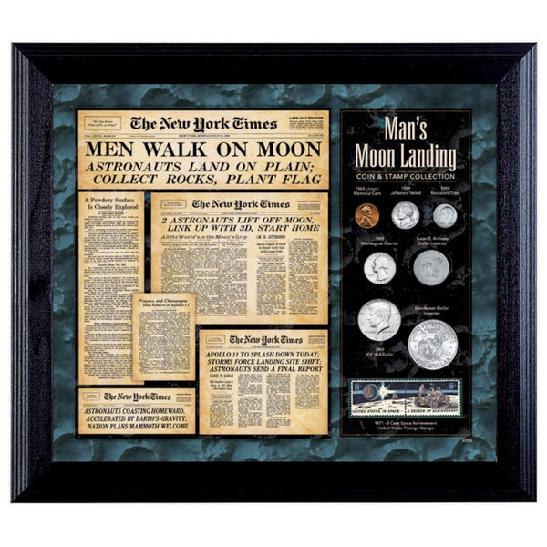 American Coin Treasures New York Times Man Lands on the Moon Coin & Stamp Collection