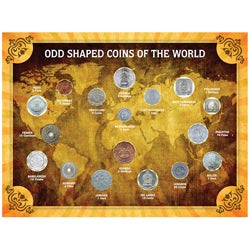 American Coin Treasures Odd Shaped Coins of the World Coin Collection