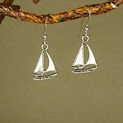 Jewelry by Dawn Pewter Sailboat Earrings