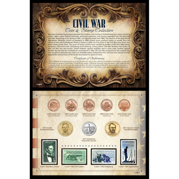 American Coin Treasures Civil War Coin and Stamp Collection