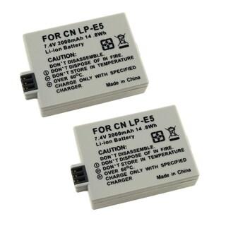 INSTEN Battery for Canon LP-E5/ EOS Digital Rebel T1i (Pack of 2)