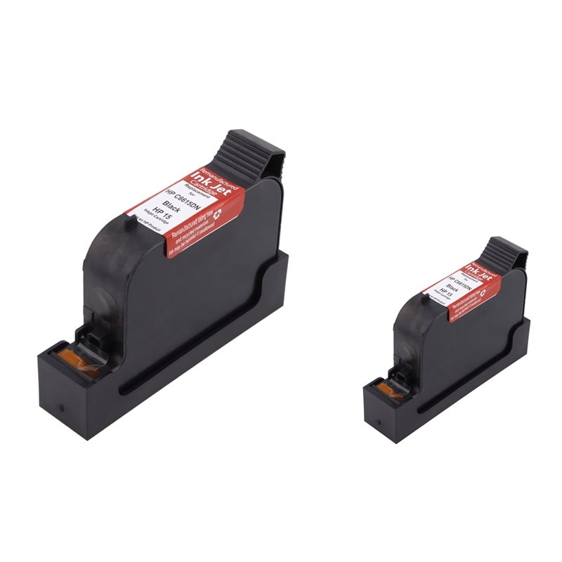 INSTEN HP 15/ C6615DN Black Ink Cartridge for PSC 500/ 750/ 950 (Remanufactured) (Pack of 2)