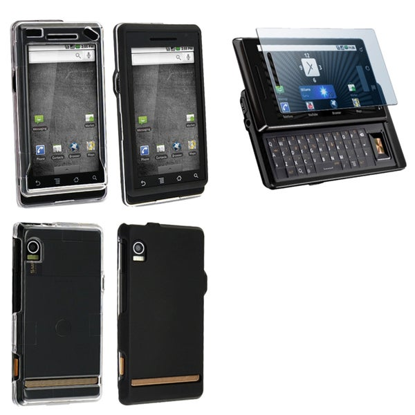 BasAcc Black Case/ Clear Case/ LCD Protector for Motorola Droid A855