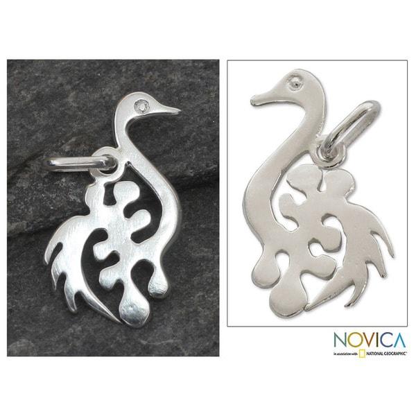 Handcrafted Sterling Silver 'New Adinkra' Pendant (Ghana)