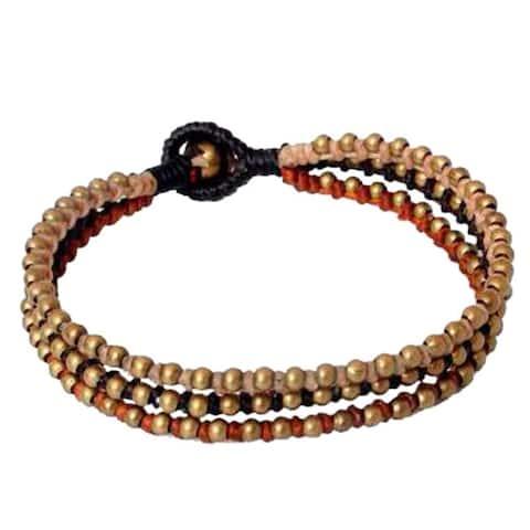 Handmade Brass 'Family' Bracelet (Thailand)