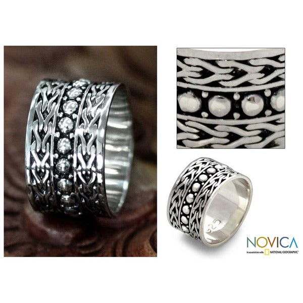Men's Sterling Silver 'Warrior' Ring (Indonesia)