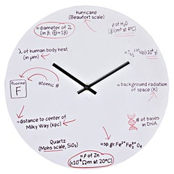 Shop Lexmod Science Quiz Wall Clock Free Shipping On