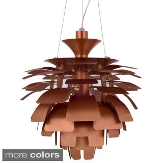 LexMod Plate Design 28-inch Chandelier Lamp