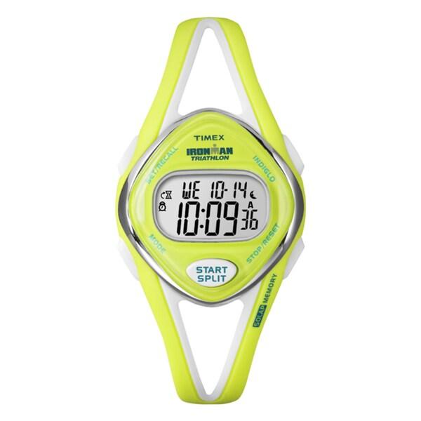 Timex Women's T5K656 Ironman Sleek 50-lap Lime Watch