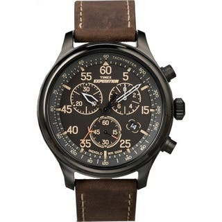 Timex Men's T49905 Expedition Rugged Field Chronograph Brown Leather Strap Watch|https://ak1.ostkcdn.com/images/products/7232841/P14714652.jpg?impolicy=medium