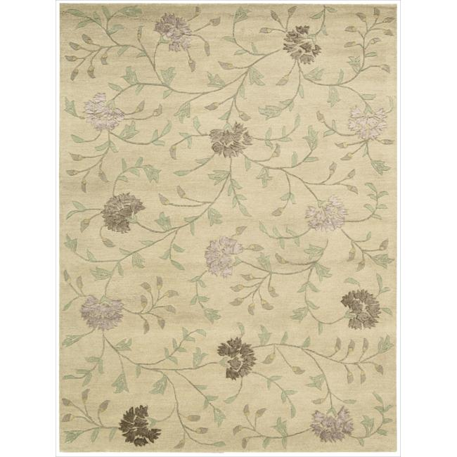 Nourison Hand-tufted Oasis Scattered Floral Natural Rug (7'6 x 9'6)