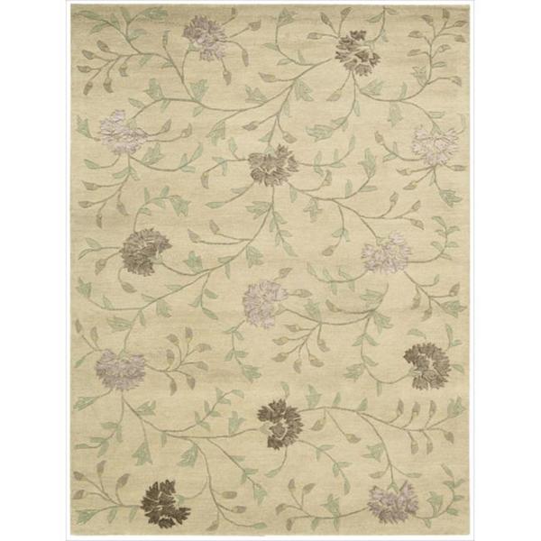Nourison Hand-tufted Oasis Scattered Floral Natural Rug (7'6 x 9'6)