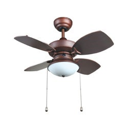 Laurel Creek Thatcher Transitional 28-inch Ceiling fan in Rubbed Bronze