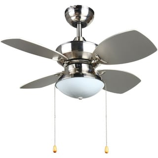 Laurel Creek Thatcher Transitional 28-inch Ceiling fan in Brushed Nickel