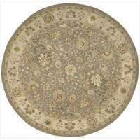 Nourison 3000 Hand-tufted Taupe Rug Round - 6' x 6'