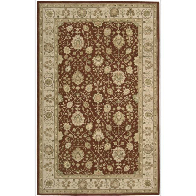 Nourison 3000 Hand-tufted Rust Wool Rug (5'6 x 8'6)