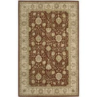 Nourison 3000 Hand-tufted Rust Wool Rug (5'6 x 8'6) - 5'6 x 8'6