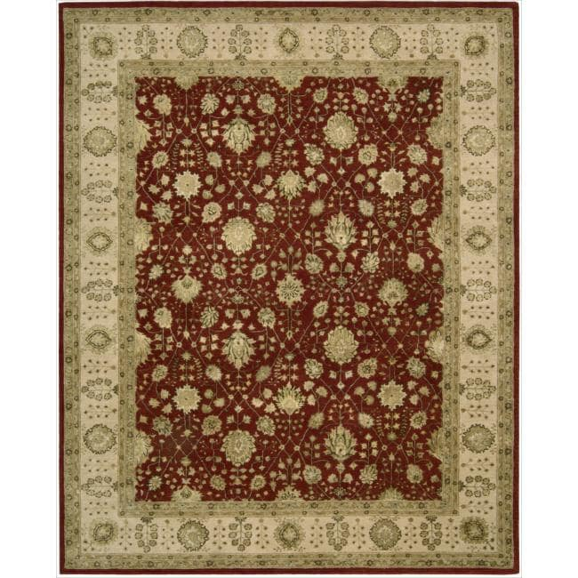 Nourison 3000 Hand-tufted Red Wool Rug (3'9 x 5'9)