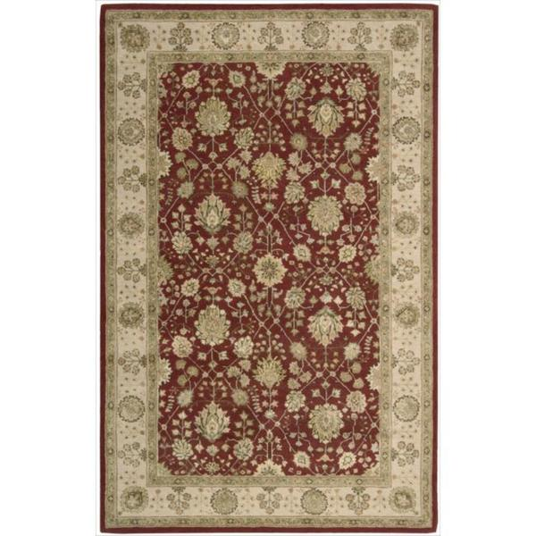Nourison 3000 Hand-tufted Red Wool Rug (5'6 x 8'6)