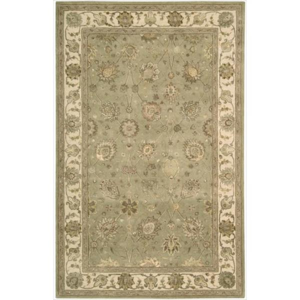 Nourison 3000 Hand-tufted Green Rug (5'6 x 8'6)