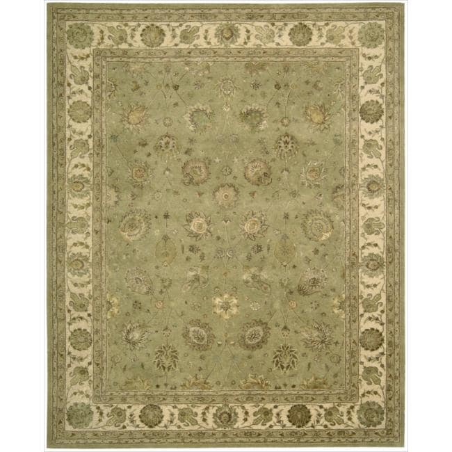 Nourison 3000 Hand-tufted Green Rug (3'9 x 5'9)