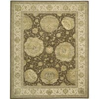 Nourison 3000 Hand-tufted Brown Rug - 5'6 x 8'6