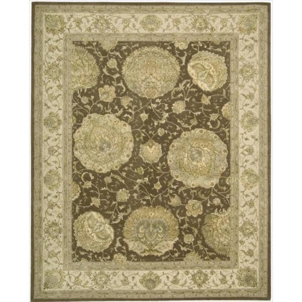 Nourison 3000 Hand-tufted Brown Rug (5'6 x 8'6) - 5'6 x 8'6