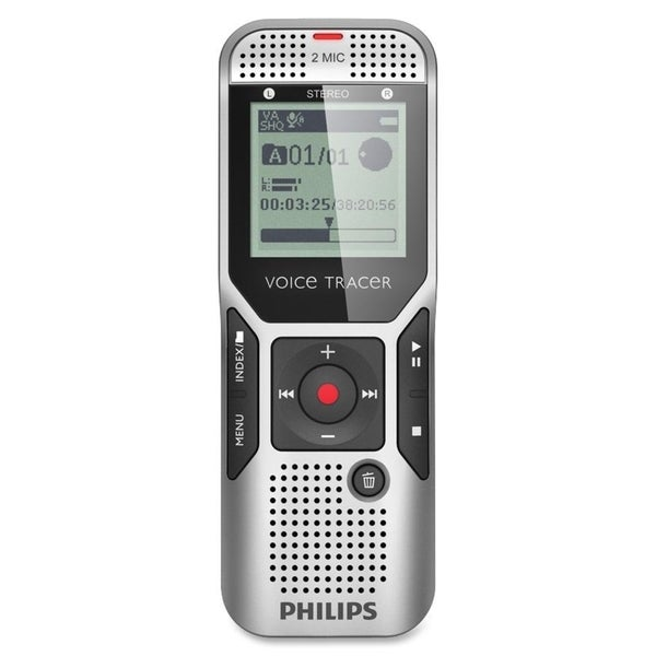 Philips Voice Tracer Digital Recorder with 2Mic Stereo Recording