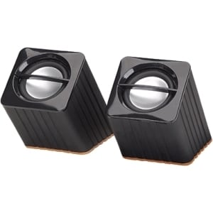 Manhattan 161664 2.0 Speaker System - 2 W RMS - Black