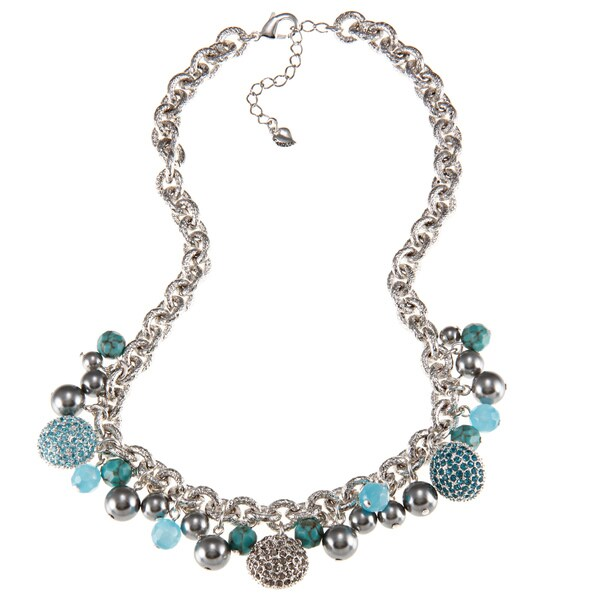 Carolee Crystal Charm Necklace