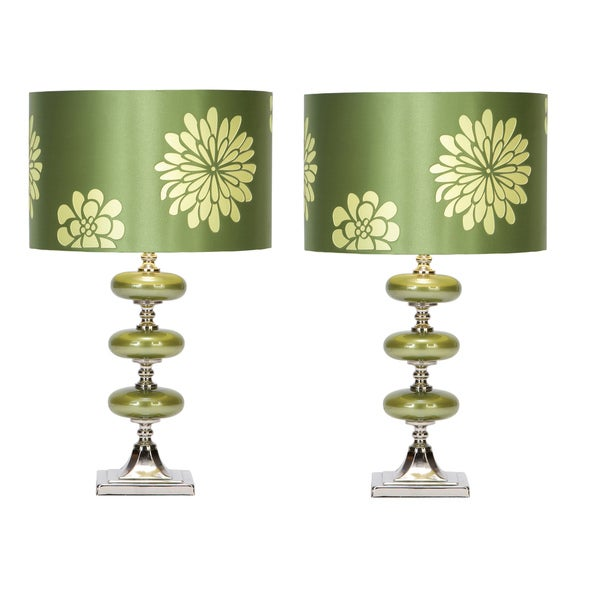 Casa Cortes Lush Green 23-inch Table Lamp (Set of 2)