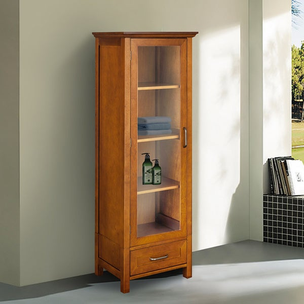 Chamberlain Linen Tower Storage Cabinet by Elegant Home Fashions