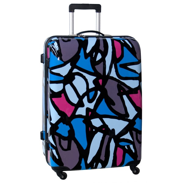 Ed Heck by Scribbles Blue 28-inch Hardside Spinner Upright Suitcase