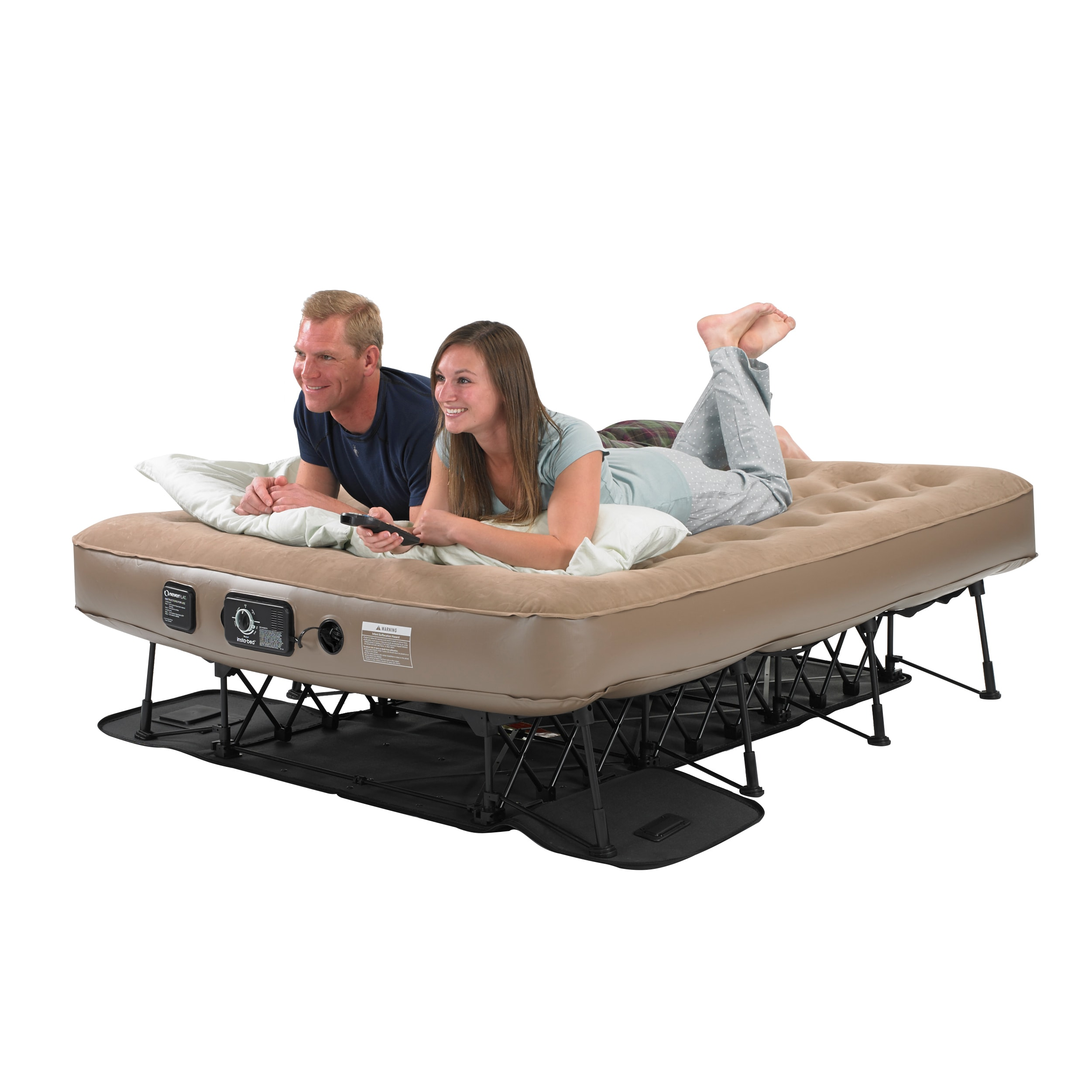 overstock free air mattress serta garden insta iii size raised with twin shipping pump product today ac airbed home