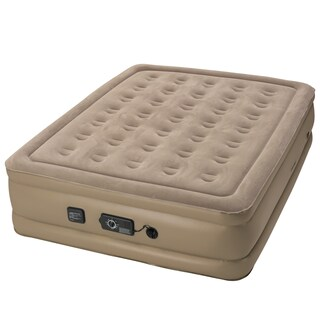 InstaBed Raised Queen-size Airbed with Never Flat Pump (2 options available)