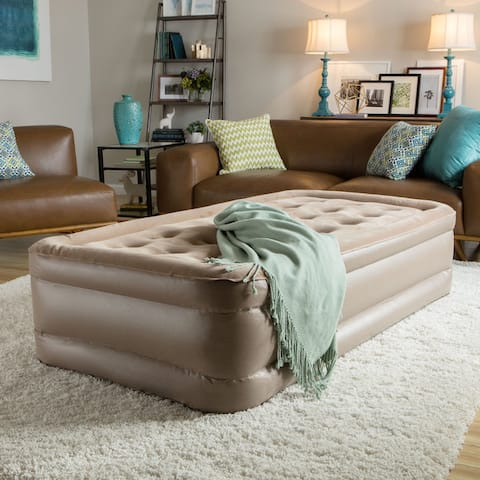 InstaBed Raised Twin Airbed with Never Flat Pump