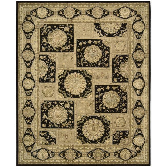 "Nourison 3000 Hand-Tufted Black Wool Rug (5'6"" x 8'6"")"