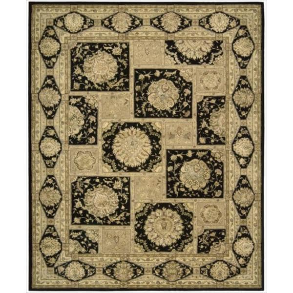 "Nourison 3000 Hand-Tufted Black Wool Rug (5'6"" x 8'6"") - 5'6 x 8'6"