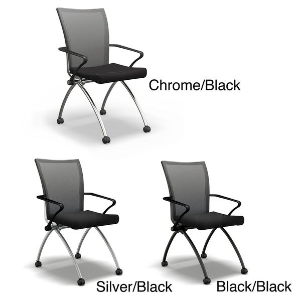 Mayline Reflection Upholstered High Back and Vinyl Seat Task Chairs (2 per carton)