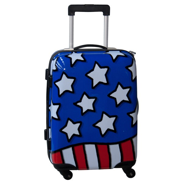 Ed Heck Stars n Stripes Red, White and Blue 21-inch Hardside Carry On Spinner Upright