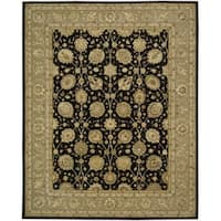 Nourison 3000 Hand-Tufted Black Persian-Inspired Rug (3'9 x 5'9) - 3'9 x 5'9