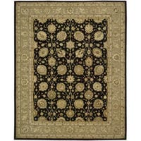 Nourison 3000 Hand-Tufted Black Persian-Inspired Rug - 3'9 x 5'9