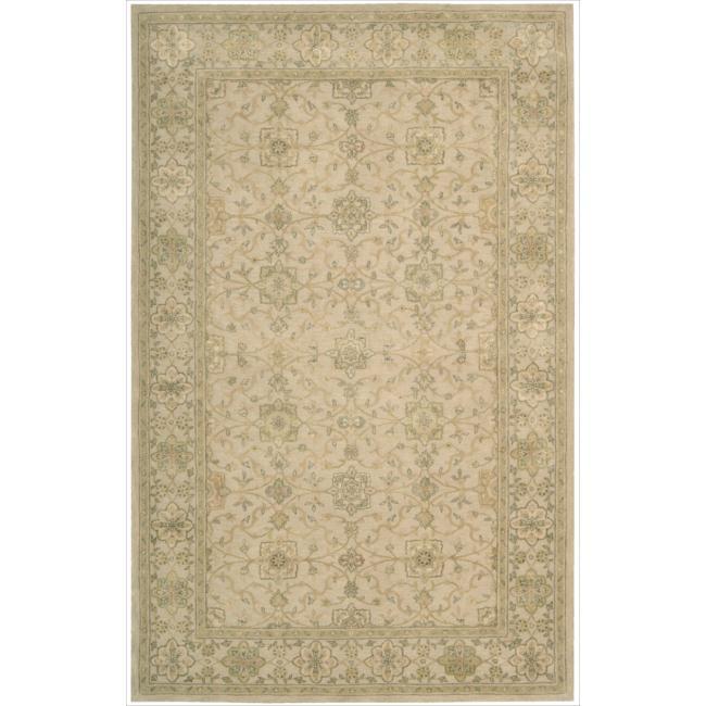 Nourison 3000 Hand-Tufted Beige Indoor Rug (5'6 x 8'6)