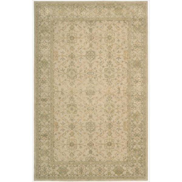 Nourison 3000 Hand-Tufted Beige Indoor Rug (5'6 x 8'6) - 5'6 x 8'6
